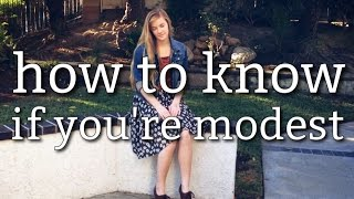 how to tell if you're modest