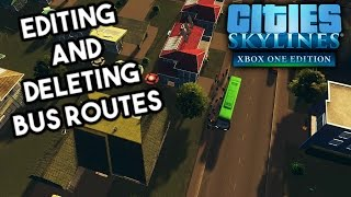 Cities: Skylines Xbox One - Editing and Deleting Bus Routes
