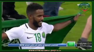 فيديو : لحظة تأهل المنتخب السعودي إلى لكأس العالم 2018