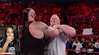 WWE Raw 8/21/17 Braun dominates Brock Lesnar