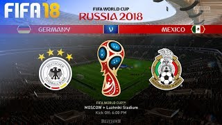 FIFA 18 World Cup - Germany vs. Mexico @ Luzhniki Stadium (Group F)