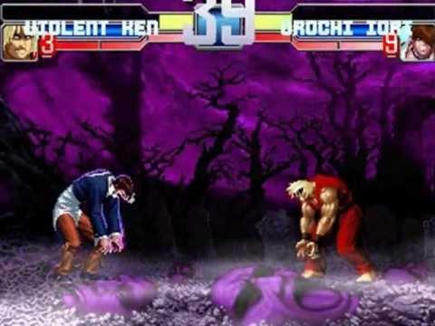 PC Mugen Violent Ken vs. Orochi Iori in the Village In The Maniac World