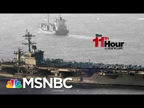 Trump White House defends Comments On Whereabouts Of Navy Ships The 11th Hour MSNBC