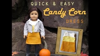 How To Make A Candy Corn Dress For Dolls