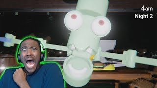 Squidward ATTACK!!! | Five Nights At Krusty Krab Night 1 & 2 ( FULL GAME )