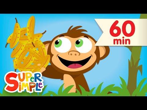 Counting Bananas + More | Kids Songs & Nursery Rhymes | Super Simple Songs