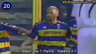 Hidetoshi Nakata - 24 goals in Serie A (Perugia, Roma, Parma, Bologna, Fiorentina 1998-2005)