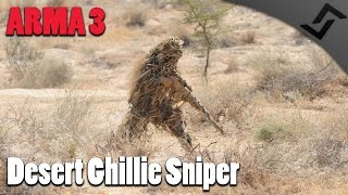 ARMA 3 - Desert Ghillie Sniper Gameplay - Canadian Recce Team