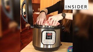 The Instant Pot is a slow cooker, pressure cooker, and steamer, all in one