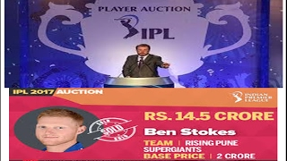 IPL AUCTION 2017  🏏 Most Expensive Players Sold in IPL 2017 🏏1 st two set player list
