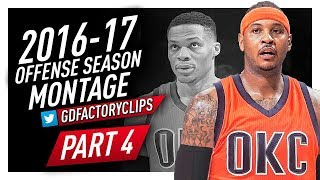 Carmelo Anthony Offense Highlights Montage 2016/2017 (Final Part 4) - WELCOME TO OKC THUNDER!