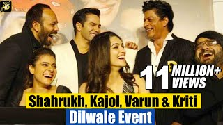 Dilwale Trailer & Music Launch Full Video HD | Shahrukh,Kajol, Varun, Kriti