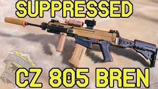 DesertFox Airsoft: Suppressed CZ 805 Bren (ASG CZ 805 Bren Airsoft Gameplay)
