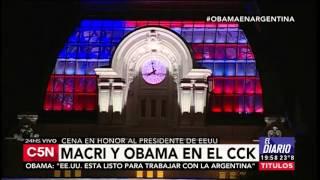 C5N – Obama en Argentina: llegada a la cena en el CCK
