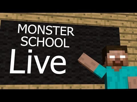 watch Minecraft Monster Schools LIVE full hd