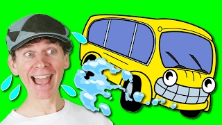 Wheels On The Bus with Family and Matt | Action Song Nursery Rhyme | Learn English Kids