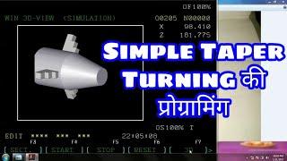CNC ka programming kaise create kare | Taper Turning part1