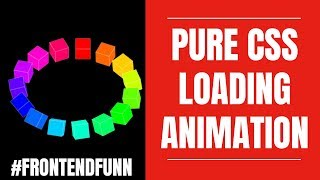 #frontendfunn - Pure CSS Rotating Cubes Animation Tutorial