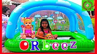 ORBEEZ Bath with BABY ALIVE Doll Paddling Pool Super Fun Bath Time Kids Balloons and Toys
