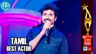 SIIMA 2014 Tamil Best Actor | Sivakarthikeyan | Ethirneechal Movie