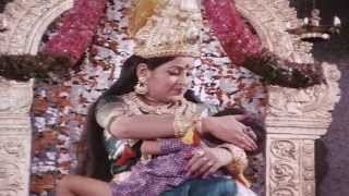Mythical scene where lord Shiva's wife goddess Parvathy feeding Prabha's baby - Mayavi Movie Scenes