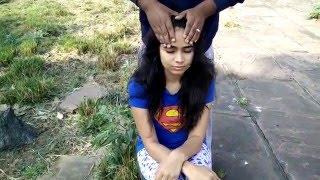 ASMR : Beautiful Girl Gets a Cosmic Head Massage at a beautiful place | New Semi-Baba Head Massage
