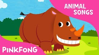 Ballerino Rhinoceros | Rhinoceros | Animal Songs | Pinkfong Songs for Children