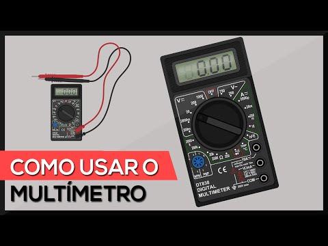 Como usar o multímetro utilizando todas as escalas testes medições