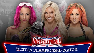 WWE WrestleMania 32 - Charlotte vs Becky Lynch vs Sasha Banks (Divas Championship) - WWE 2K16