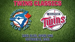 1991 ALCS, Game 1: Blue Jays @ Twins