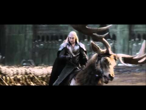 El Hobbit La Batalla de los Cinco Ejércitos Enanos VS Elfos escena extendida HD