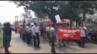 West Bengal me coyala Surksa gardo ka dharna pardarsan jari