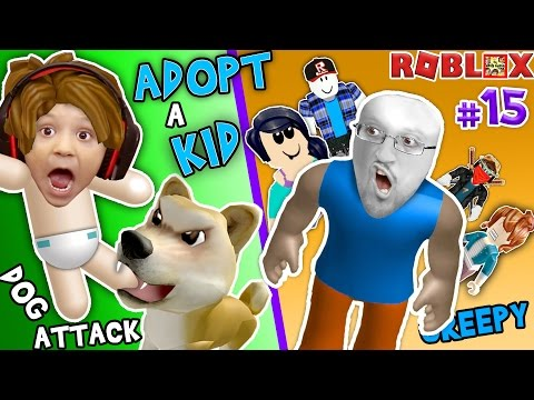 ROBLOX ADOPT & RAISE A CUTE KID Dog Attacks Baby FGTEEV Part 15 Whos Your Daddy Style Roleplay