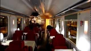 Inside the Russian Railway train Nice-Moscow