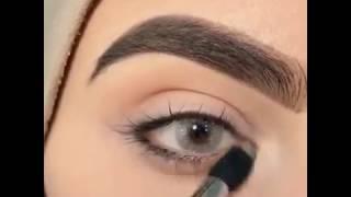 eyebrow | مكياج للعيون الواسعة | طريقة رسم العيون جميل جدا