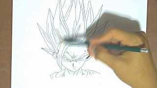 Dibujando a Gohan Dragon Ball Z