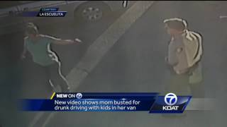 Caught on camera: mom gets busted for drunk driving with kids in the car
