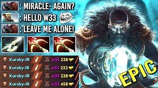 EPIC Miracle- Kunkka Counter w33 Ursa Mid with Halberd Crazy Pro Gameplay WTF Dota 2