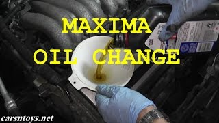 Nissan Maxima Oil Change with Basic Hand Tools