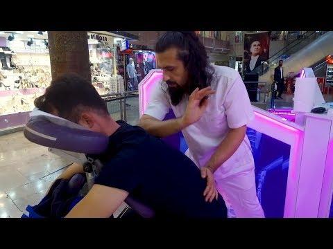 MASSAGE THERAPHY ON CHAIR  (No Talking Turkish Asmr Head & Back Massage)