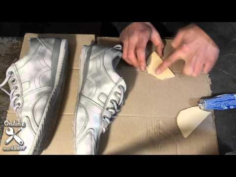 Как сделать пятку на ботинке