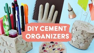 DIY Cement Organizers | Sea Lemon
