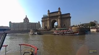 360 VR Arriving at India Gate and Taj Mahal Palace by boat