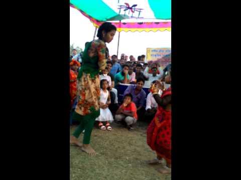 Hot Bangladeshi Girl Dancing on School Program.