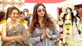 Sridevi & Kangana Ranaut Attending Saraswati Puja 2018 Full Video HD