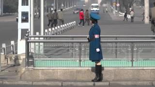 Pyongyang Traffic Lady - April 2016