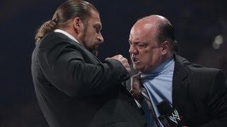 Triple H punches Paul Heyman: Raw, June 18, 2012