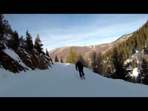 Skiing Aspen Mountain Helmet Cam Following My Teen 11 27 13