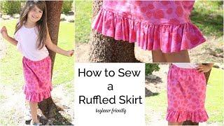 How to Sew a Ruffled Bottom Skirt - beginner friendly