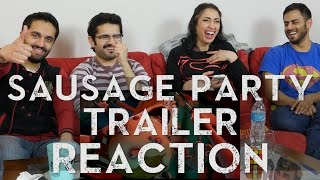 SAUSAGE PARTY MOVIE TRAILER - Group Reaction